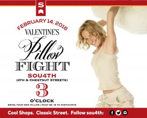 February 5: Shopping, Mummies, and Giant Pillow Fight on South 4th for Valentine's Weekend image