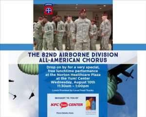 August 10: 82nd Airborne Presented by Louisville Downtown Partnership and KFC Yum! Center image