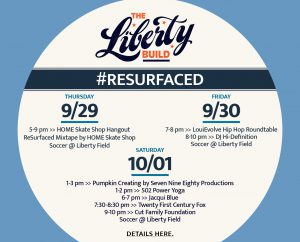 September 29: RESURFACED® THE LIBERTY BUILD - Fall 2016 Events image