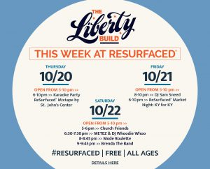 October 18 - RESURFACED®: THE LIBERTY BUILD FALL EVENTS image