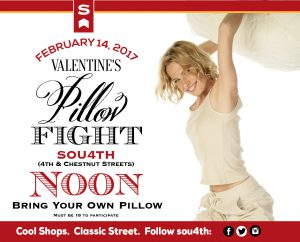 February 14 - Valentine's Day Pillow Fight image