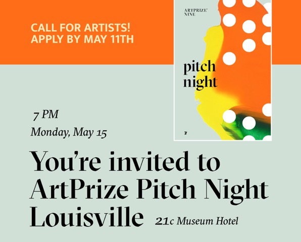 May 11th - Call for Artists - ArtPrize Pitch Night image
