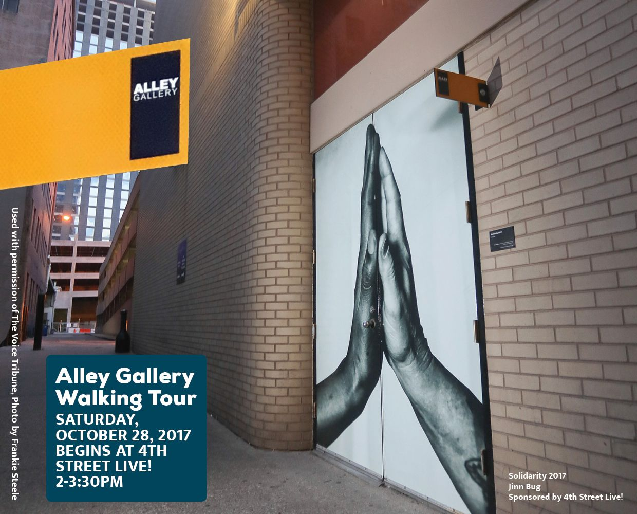 October 28 - Alley Gallery Walking Tour image