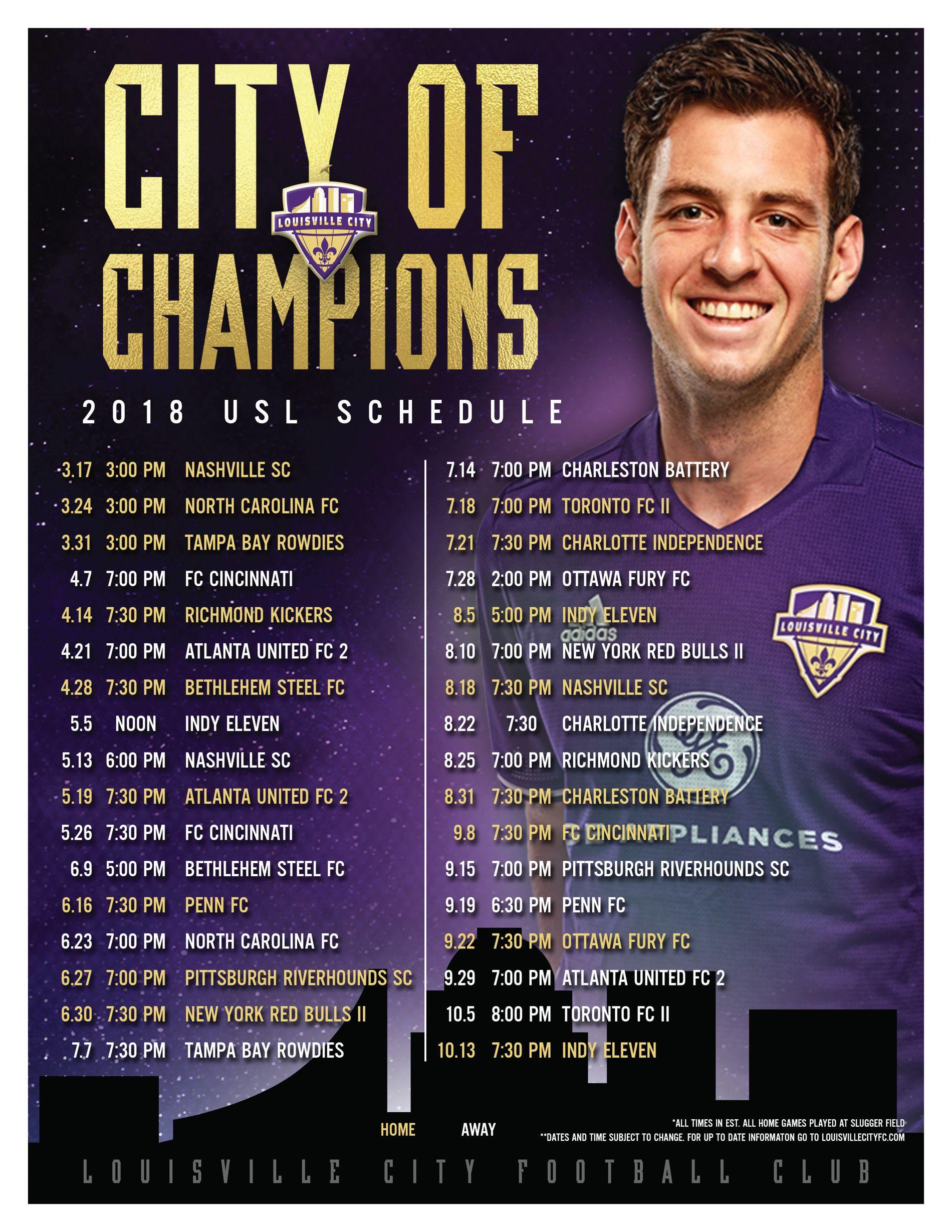 LCFC Schedule